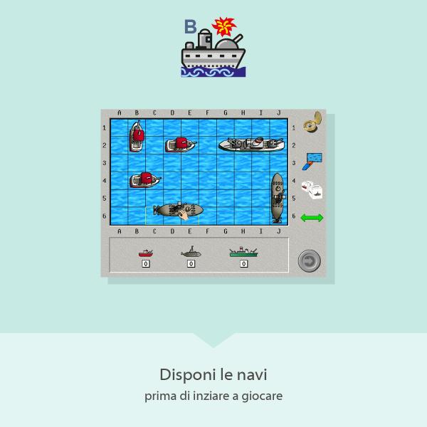 Battaglia Navale - disponi le navi prima di iniziare a giocare