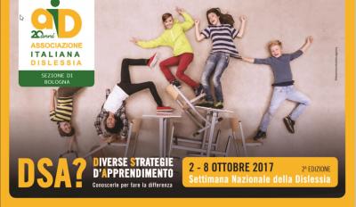Settimana nazionale della dislessia, 2-8 Ottobre 2017