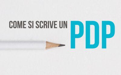 Come si scrive un PDP