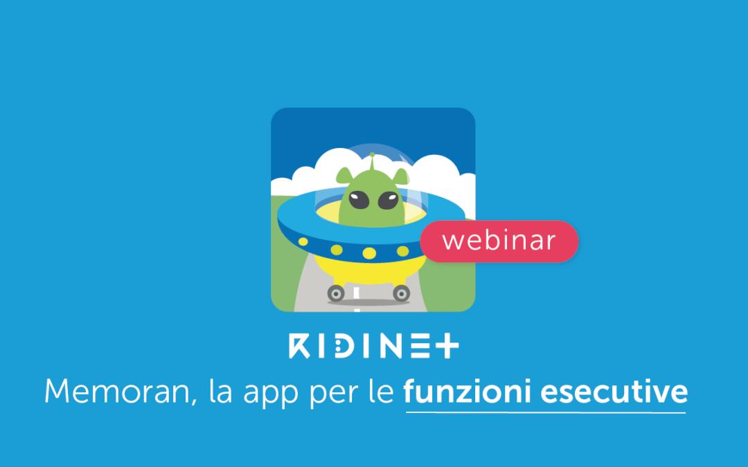 Clinici » MemoRAN: la prima app di Ridinet per intervenire sulle Funzioni Esecutive