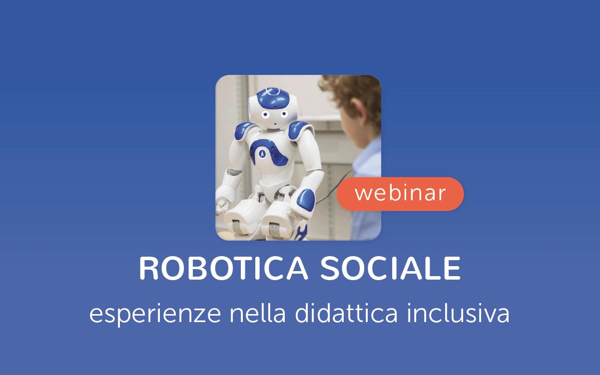 Robotica sociale didattica inclusiva