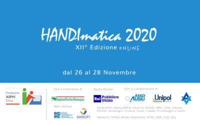 Handimatica 2020 è online! iscriviti gratuitamente