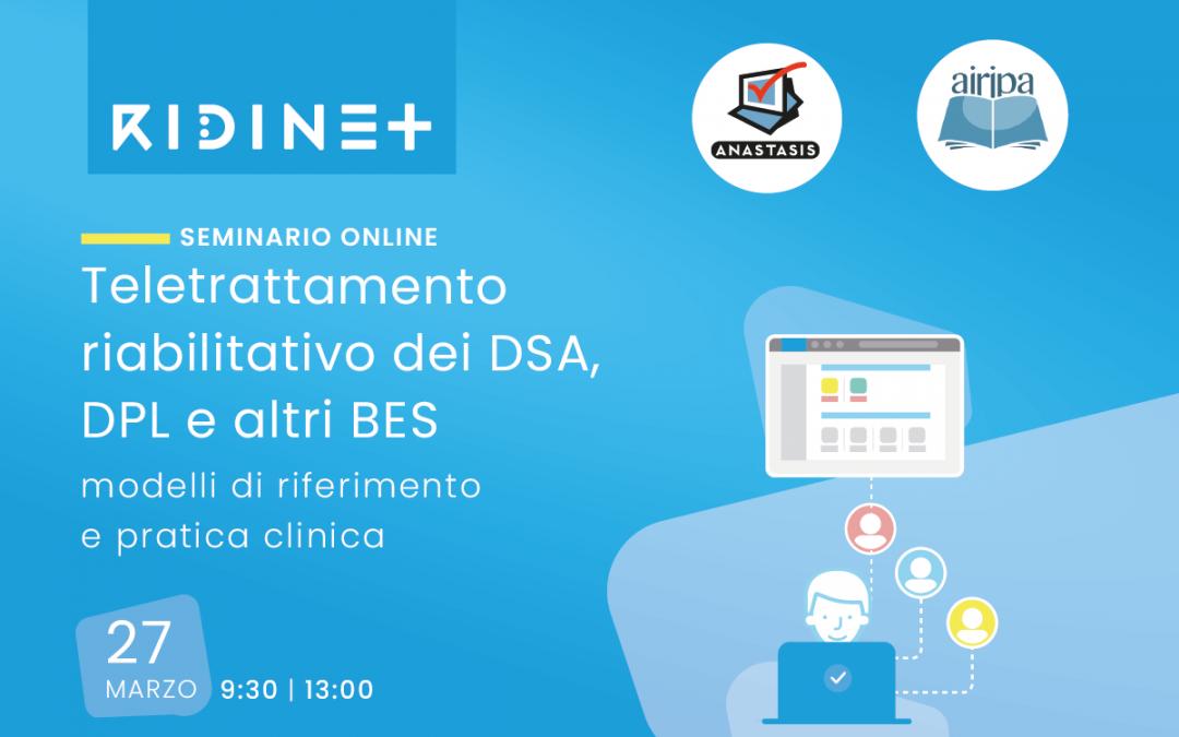 Seminario online su RIDInet e teletrattamento