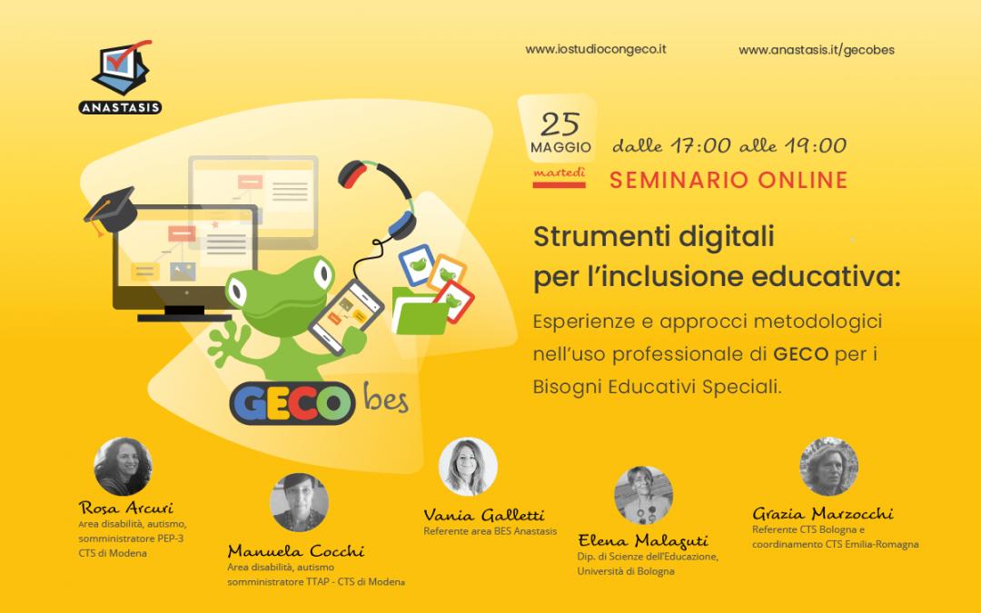 Strumenti digitali per l'inclusione educativa: GECO BES