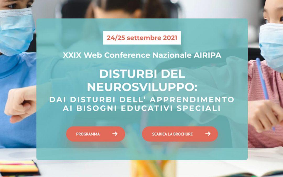 Congresso Airipa 2021 sui disturbi del neurosviluppo